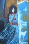 """Woman in Blue"" von Rose Slater"